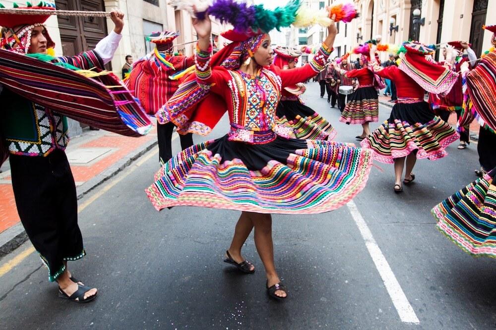 秘魯的國慶日表演